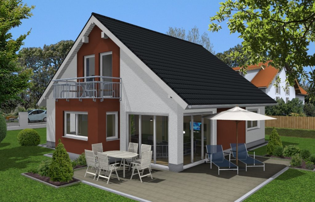 Neubau Haus Werbebild - Family 140 Mawo Massivhaus width=