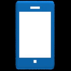 Smartphone Design Blau Weiß - Schemabild